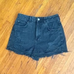 TopShop Moto Mom Distressed Jean Shorts